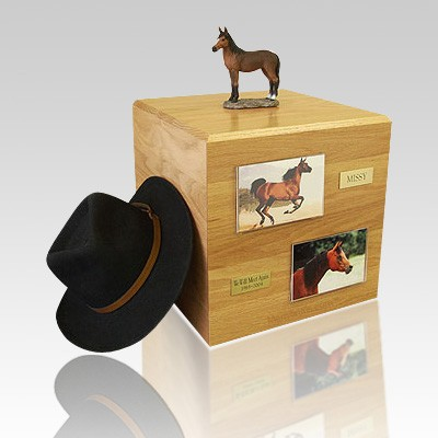 Bay Standing Full Size Horse Urns