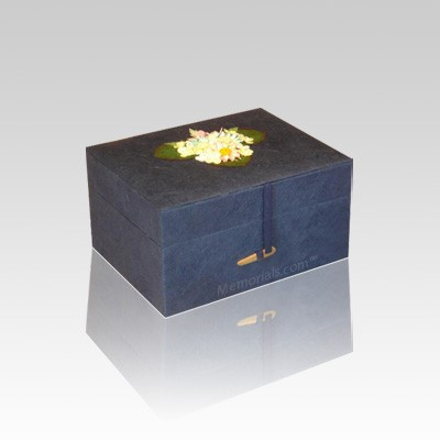 Chest Navy Earth Small Cremation Urn