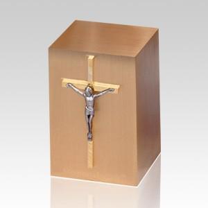 Crucifix Cross Large Infant Cremation Urn