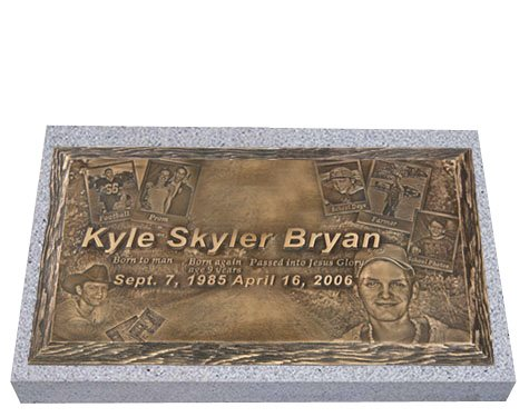 Expression Bronze Grave Marker For One