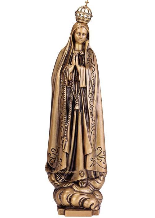 Virgen De Fatima Bronze Statues