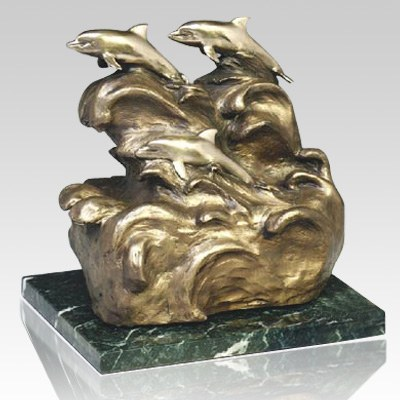 Peaceful Sea Dolphin Cremation Urns