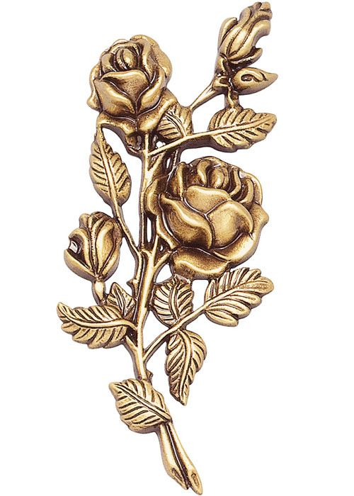Roses Wall Bronze Statues IV
