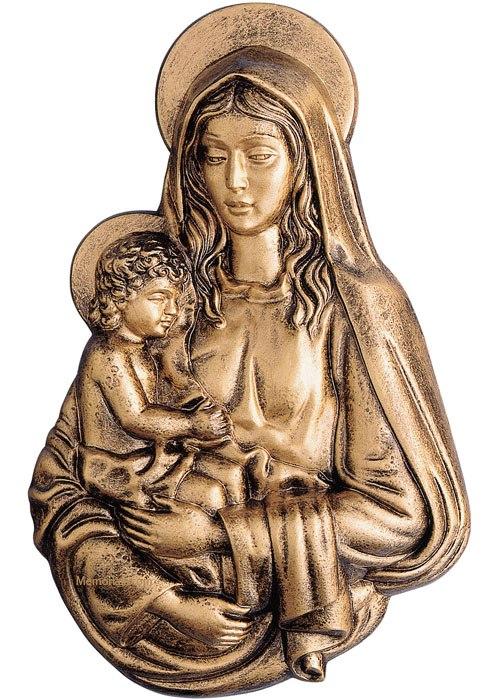 Maria & Child Wall Bronze Statues