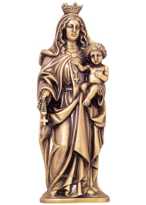 Virgen Del Rosario Wall Bronze Statues