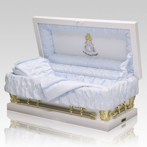Precious Moments Caucasian Boy Casket