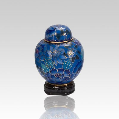 Blue Copper Keepsake Cremation Urn