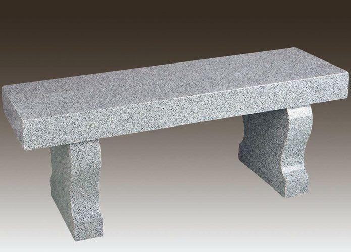 Modern Granite Cemetery Bench