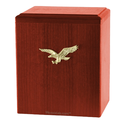 Eagle Ascent Cherry Small Cremation Urn