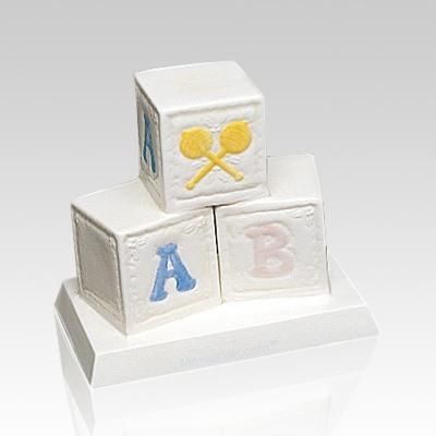 Blocks Ceramic Infant Cremation Urn