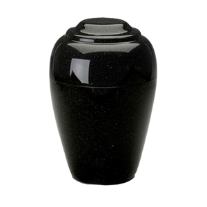 Grecian Orca Black Granite Cremation Urn