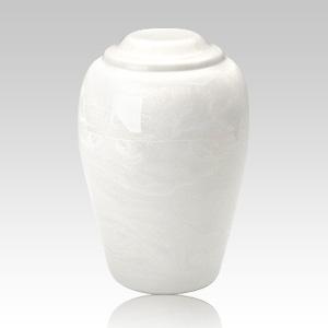 Grecian White Infant Cremation Urn