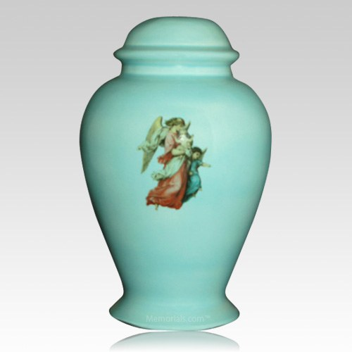 Angel Blue Child Cremation Urn