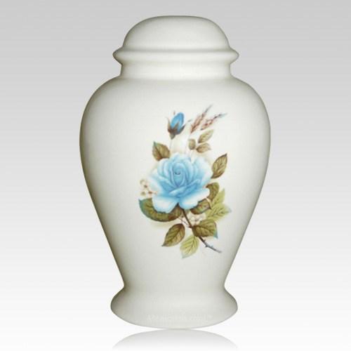 Blue Rose Child Cremation Urn