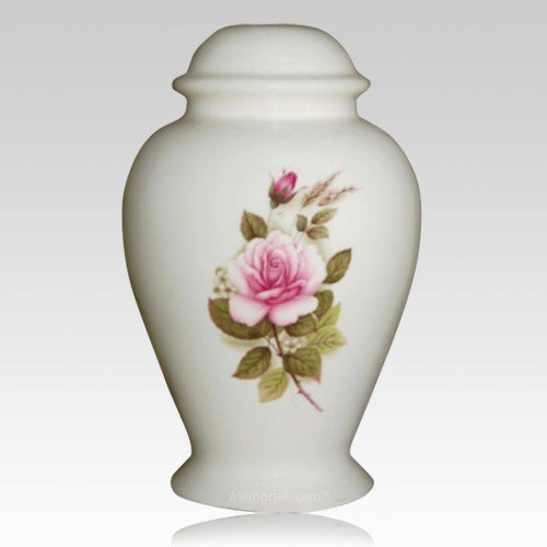 Pink Rose Child Cremation Urn
