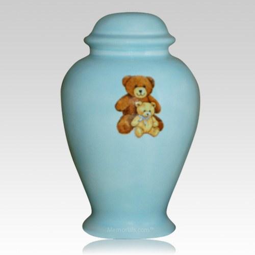 Blue Teddy Bear Cremation Urn II