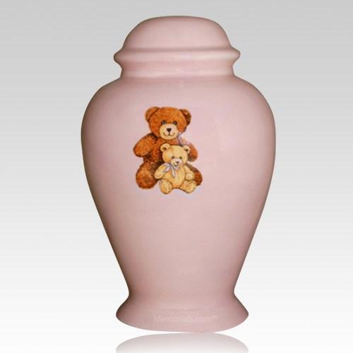 Pink Teddy Bear Cremation Urn II