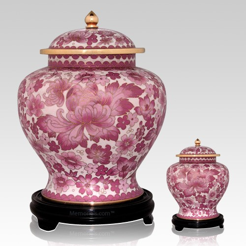Rose Flowers Cloisonne Cremation Urns