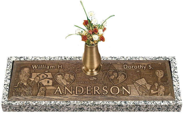 Expression Bronze Grave Marker For Two II