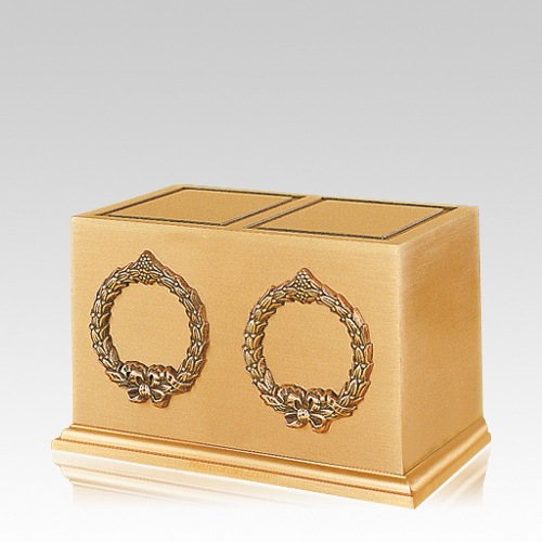 Victory Wreath Cremation Urn For Two
