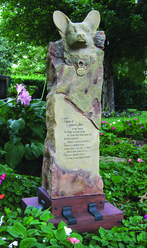 Corgie Large Cremation Memorial