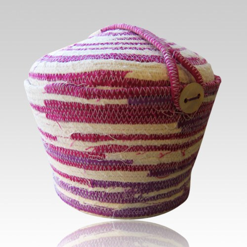 Cotton Pink Organic Cremation Urn