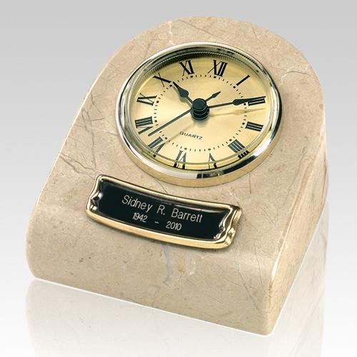 Marble Clock Cream Keepsake Urn