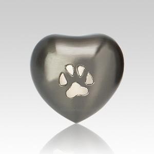 Paw Print Slate Pet Heart Urn