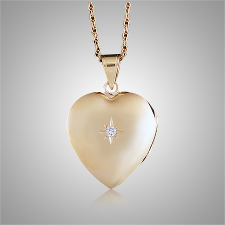 Gold heart locket cremation jewelry aloadofball
