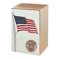 Army Bronze Flag Cremation Urn