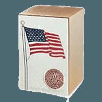 Navy Bronze Flag Cremation Urn