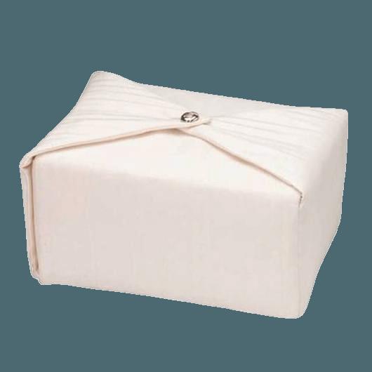 Cream Wrap Cremation Urn