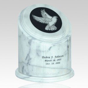 Crown White Marble Cremation Urns