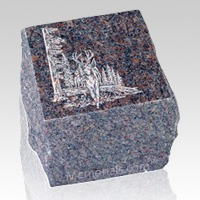 Garden Brown Granite Cremation Urn