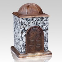 Bronze & Granite Gray Cremation Urn