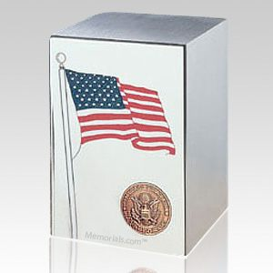 Air Force Stainless Steel Flag Cremation Urn