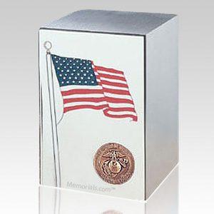 Marine Stainless Steel Flag Cremation Urn