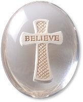 Believe Cross Comfort Stone Keepsake