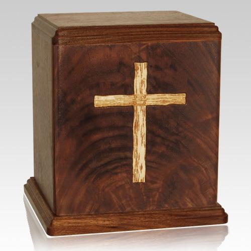 Rugged Cross Cremation Urn