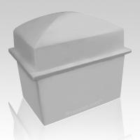 Denver Gray Cremation Urn Vault