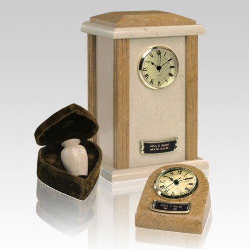 Marble Clock Earth Cremation Urns