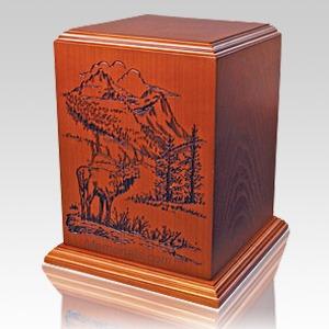Elk Forest Wood Cremation Urn