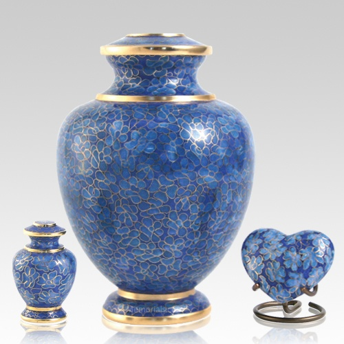 Azure Essence Cloisonne Cremation Urns
