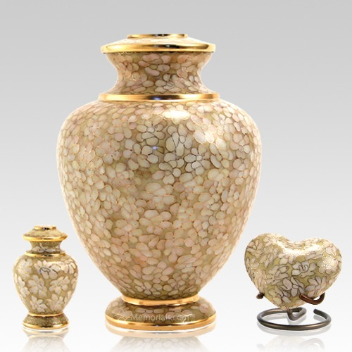Opal Essence Cloisonne Cremation Urns