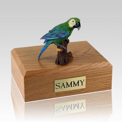Green Parrot Bird Cremation Urns
