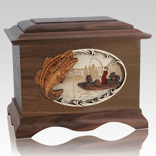 Catch of the Day Walnut Cremation Urn