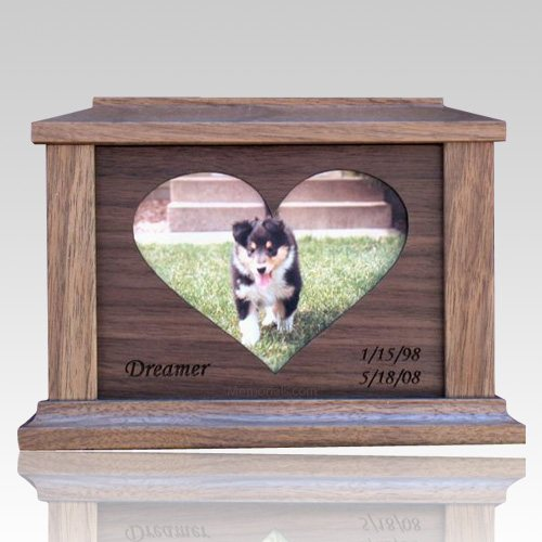 Center Heart Picture Cremation Urns