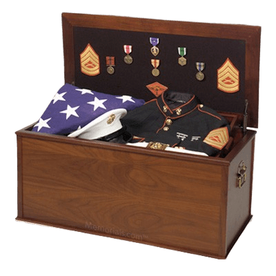 Heirloom Military Chest Cremation Urn