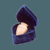 Teakwood Marble Infant Cremation Urn