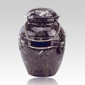 Black Pet Marble Cremation Urns